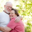 Loving Senior Couple Enjoying Outdoors Together — Stock Photo