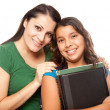 Proud Hispanic Mother and Daughter Ready — Stock Photo