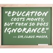 Education Quote Series Chalkboard - Stock Photo