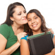 Stock Photo: Proud Hispanic Mother and Daughter