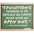 Education Quote Series Chalkboard — Stock Photo