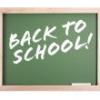 Stock Photo: Back to School Chalkboard on White