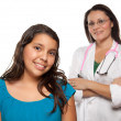 Hispanic Girl and Female Doctor — Stock Photo