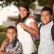 Stock Photo: Young Brothers and Sister at School