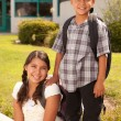 Royalty-Free Stock Photo: Hispanic Brother and Sister at School