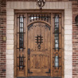 Newly Constructed Doorway - Stock Photo