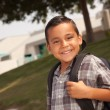 Royalty-Free Stock Photo: Young Hispanic Boy on His Way to School