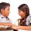 Stock Photo: Hispanic Brother and Sister Studying