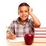 Young Hispanic School Boy on White — Stock Photo #2353320