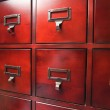 Lustrous Wooden Card File Cabinet — Stock Photo