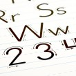 Royalty-Free Stock Photo: Learning Letters Chart