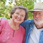 Loving Senior Couple Enjoying the Outdoors Together — Stock Photo #2354757