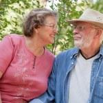 Happy Smiling Senior Couple Portrait — Stock Photo #2354817