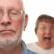 Angry Senior Couple in a Terrible Fight — Stock Photo #2354834