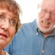 Angry Senior Couple in a Terrible Fight — Stock Photo #2354860