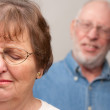 Angry Senior Couple in a Terrible Fight — Stock Photo #2354895