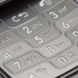 Grey Detailed Cell Phone Number Pad Macro — Stock fotografie