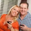 Cute Couple Enjoying a Glass of Wine — Stock Photo #2355397
