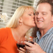 Happy Couple Enjoying a Glass of Wine — Stock Photo