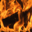 Abstract Macro of Flames Background - Stockfoto