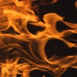 Dramatic Flames on Black — Stock Photo