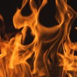 Dramatic Flames on Black - Stock Photo