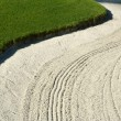 Abstract of Sand Bunker and Grass on Golf Course — Stock Photo