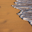 Stock Photo: Beach Shoreline Wash