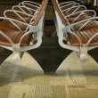 Airport Seating Abstract - Stock Photo