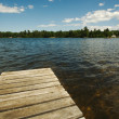 Lake and Dock — Stock Photo