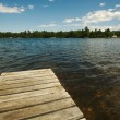 Lake and Dock - Stock Photo