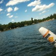 Lake Scene & Swim Area Buoy — Stock Photo