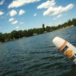 Lake Scene & Swim Area Buoy — Stock Photo