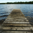 Stock Photo: Lake and Dock