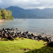 Beautiful Hanalei Bay Late One Summer Afternoon. — Stok fotoğraf