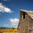 Rustic Barn Scene with Deep Blue Sky and Clouds — Stock Photo #2357106