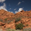 Red Rocks of Utah with Dramatic Blue Sky - Stock Photo