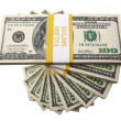 Royalty-Free Stock Photo: Stacks of One Hundred Dollar Bills
