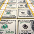 Stacks of One Hundred Dollar Bills — Stock Photo