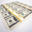Stacks of One Hundred Dollar Bills — Stock Photo #2358038