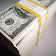 Stacks of One Hundred Dollar Bills — Stock Photo #2358059