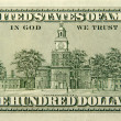 One Hundred Dollar Bill Back Side - Stock Photo