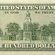 One Hundred Dollar Bill Back Side - Stockfoto