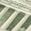 Macro of Five Dollar Bill Back - Stock Photo
