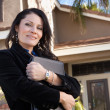 Attractive Hispanic Real Estate Agent — Stock Photo