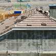 Stock Photo: New Home Construction Site Roof