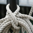 Abstract Boat Rope Detail — Stock Photo