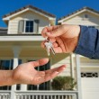 Handing Over the House Keys to Home — Foto Stock