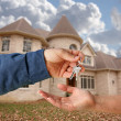Handing Over the Keys and House — Stock Photo #2358834