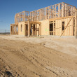 Construction Home Framing Abstract — Foto de Stock